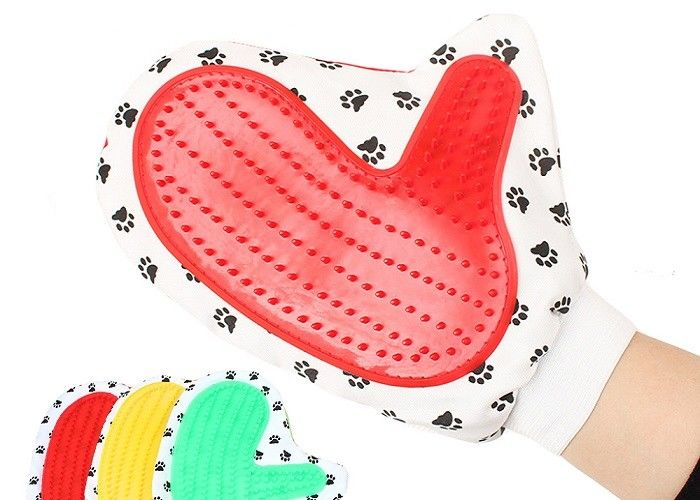 Paw Printing Colorful Pet Massage Glove Silicone ISO9001 Approved 50g ODM
